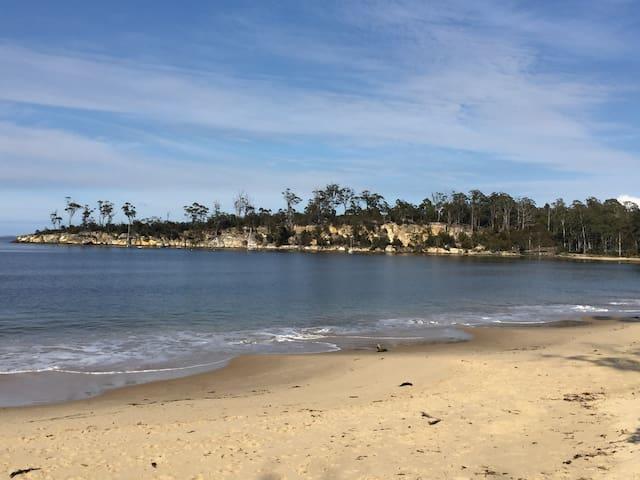 Beautiful safe swimming beach at Randells Bay