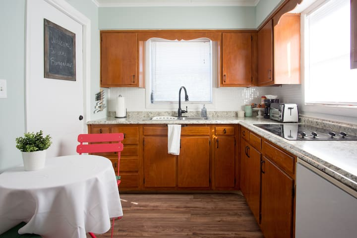 Nicely equipped kitchen for your stay.