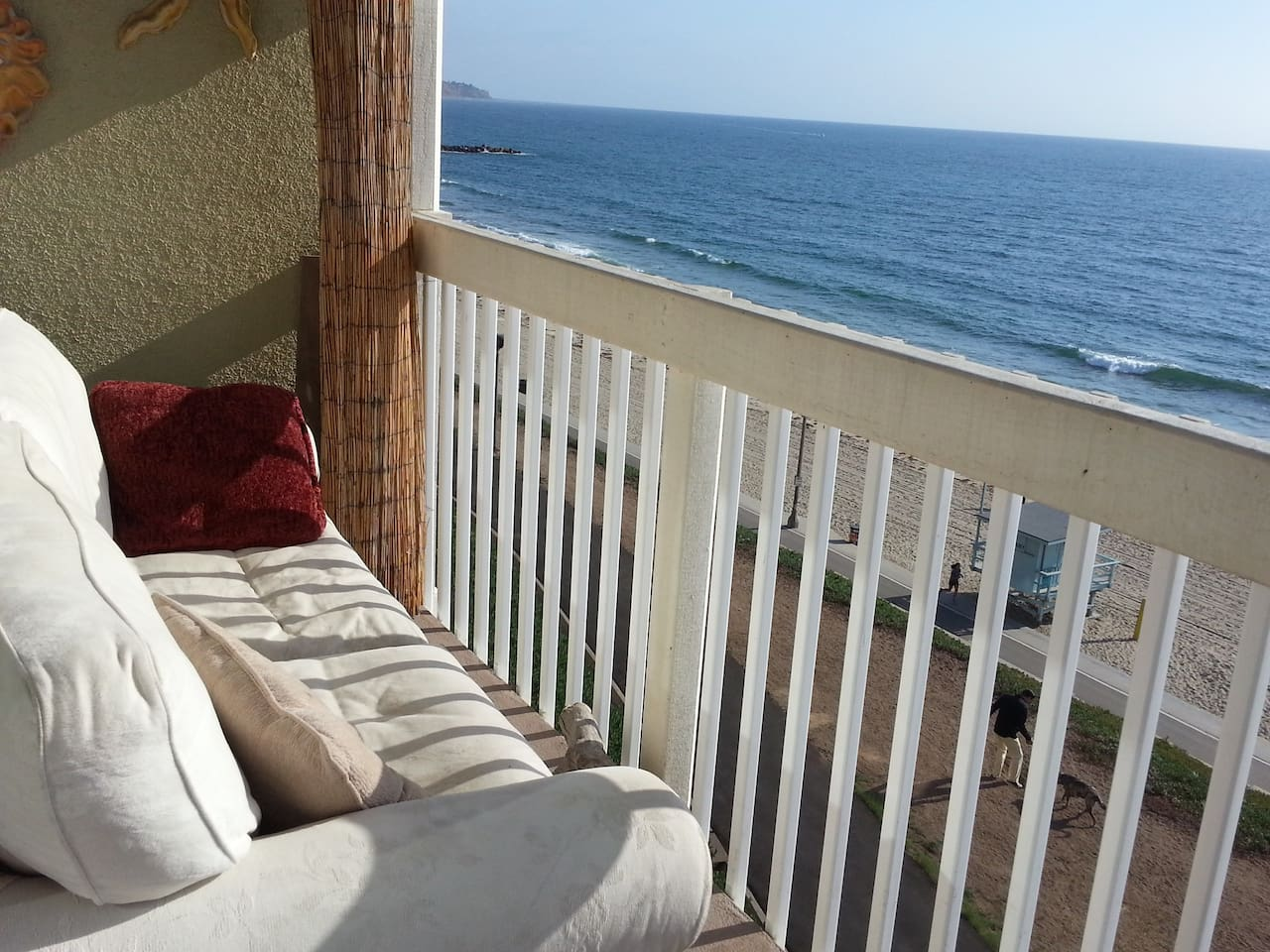 Lounge on the balcony, or have a glass of wine while you watch for dolphins and the occasional whale.