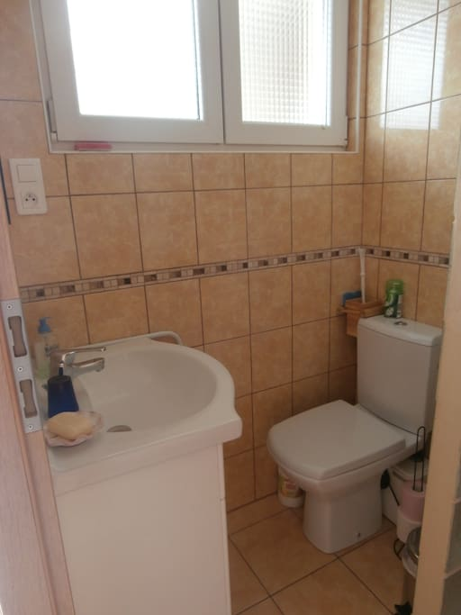 salle d'eau, la douche est à côté
