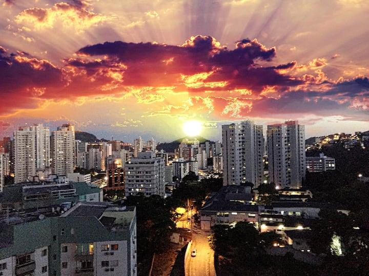 Flat Aconchegante com Linda Vista em Vitória