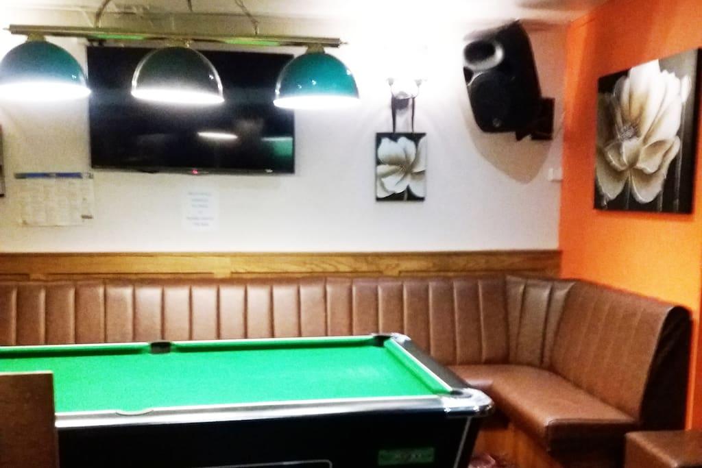 Pool and Darts area