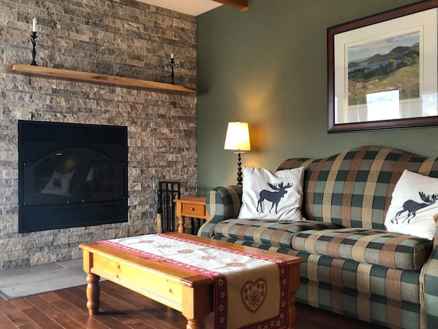 Cozy Condo, fireplace, a quiet spot in Tremblant!