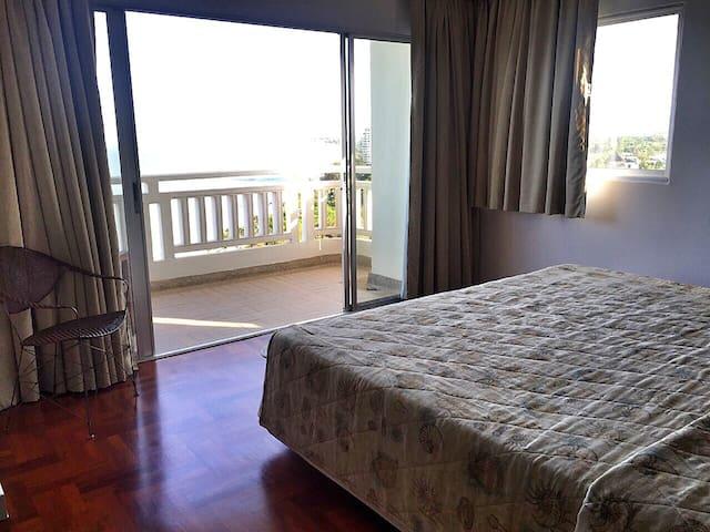 Master bedroom- king size bed