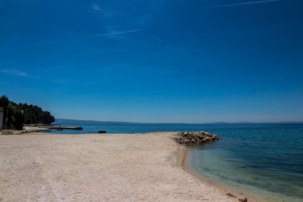 Big Beach with Clear Sea