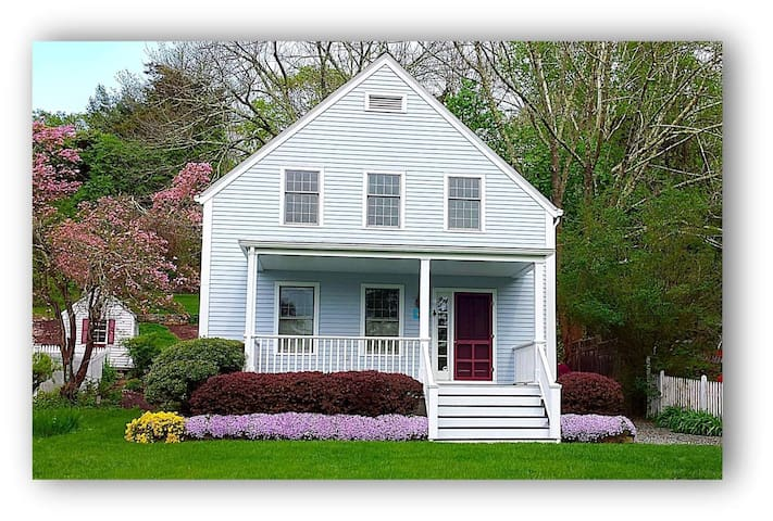 Charming, Walkable Home in Mystic Historic District!  A Peaceful Retreat Yet Close to All the Fun!