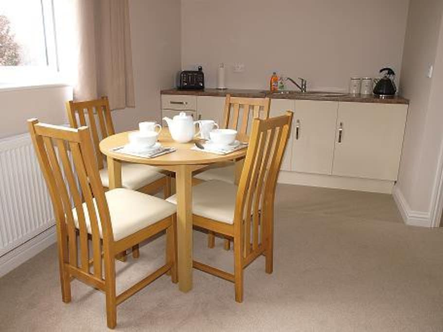 We provide your continental style breakfast to eat at a leisurely pace