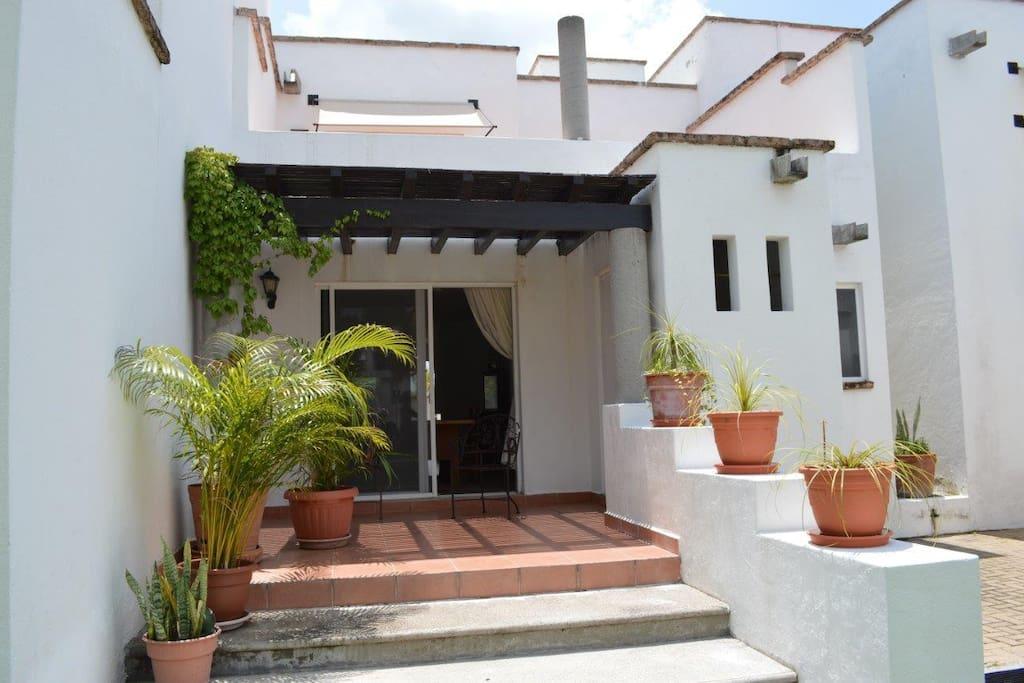 Terraza privada de la casa