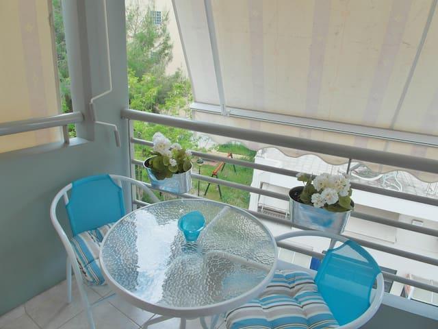 spacious balcony