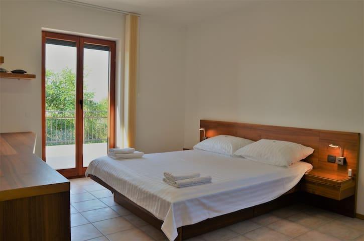 Master bedroom with large terrace villas Vilanija Croatia