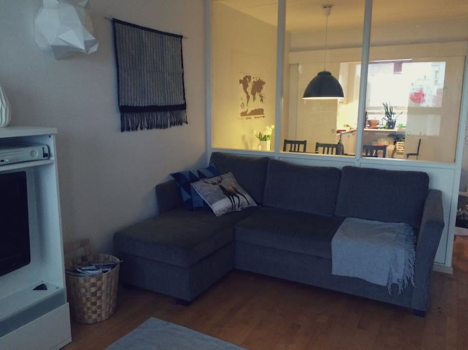 A double sofa bed in lounge