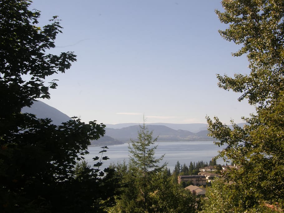 View of Shuswap Lake from back deck.