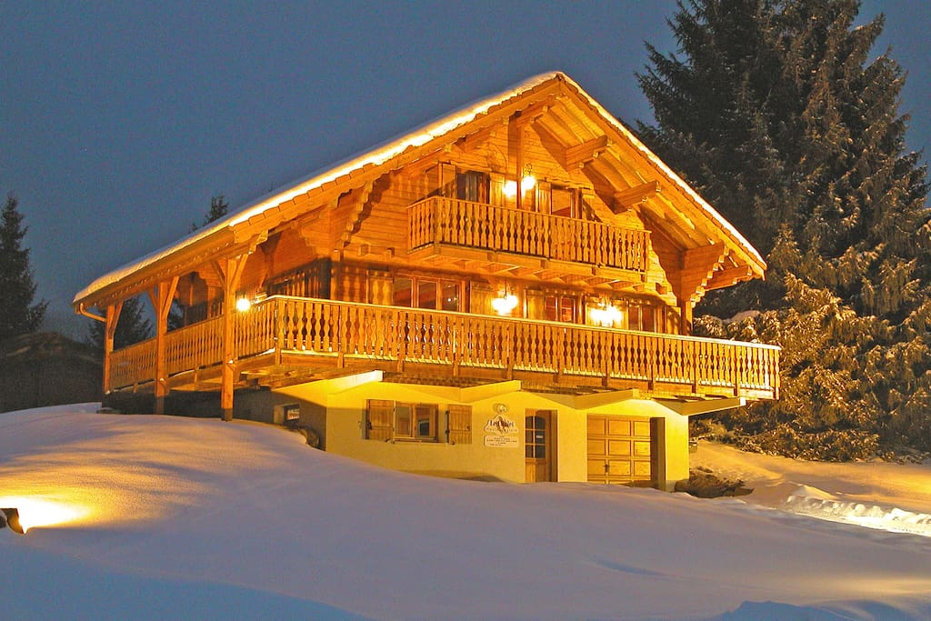 chalet facilement accessible en cas d'enneigement