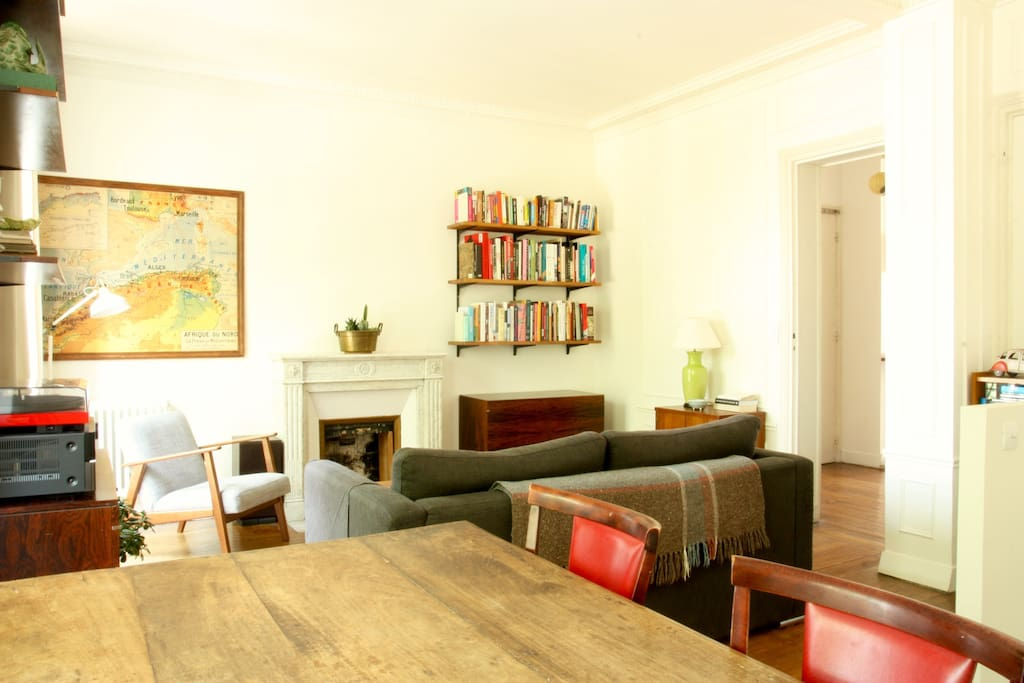 The living/dining room faces south west and gets full afternoon sun.