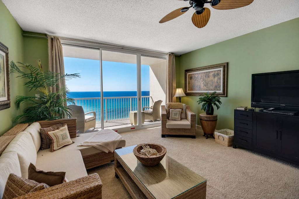 Relax and enjoy the amazing view from this modern living space.
