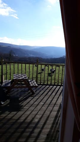 Pentwyncoch Isaf, House with a beautiful view.
