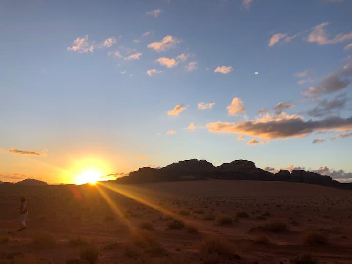 Wadi rum desert moon