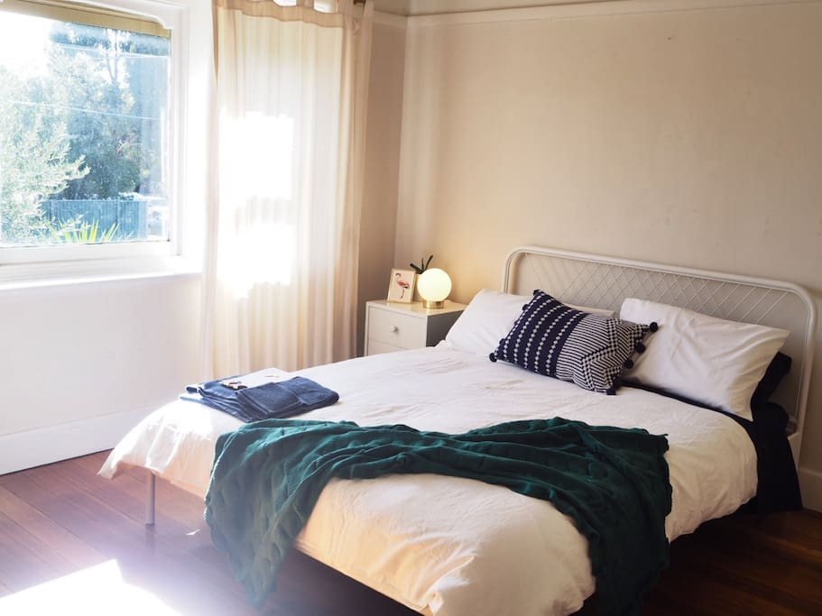 Your light-filled bedroom (don't worry, there's a blackout blind).