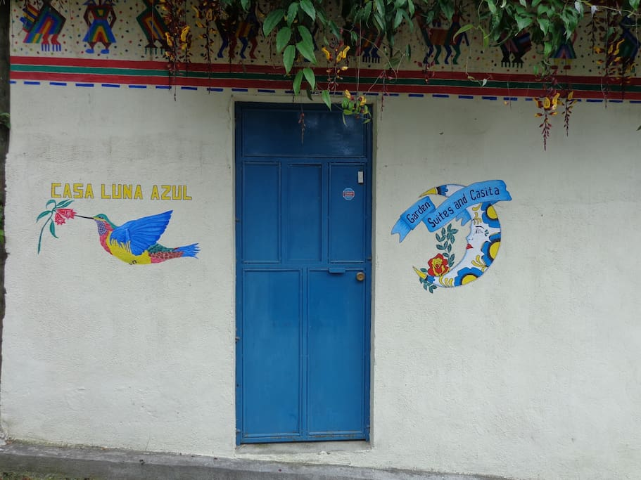 Third blue door on the left.. Ring Bell :)