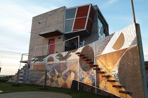 Hermosa Casa de diseño frente al mar - Maule