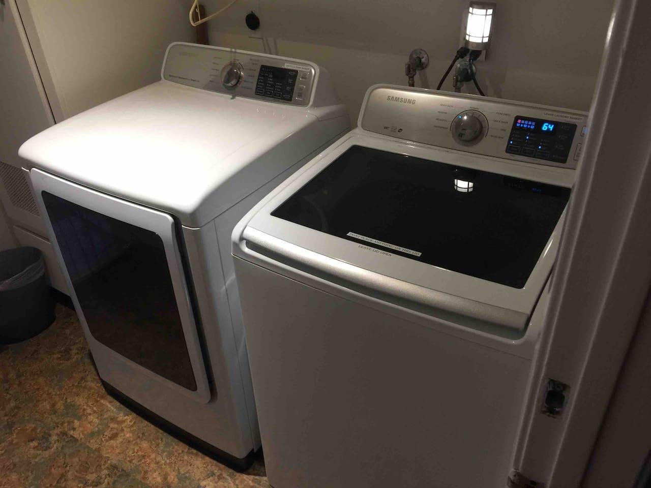 New washing machine and dryer