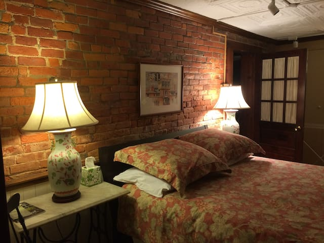 The quiet, comfortable cozy guest room. Amazing (queen) mattress.