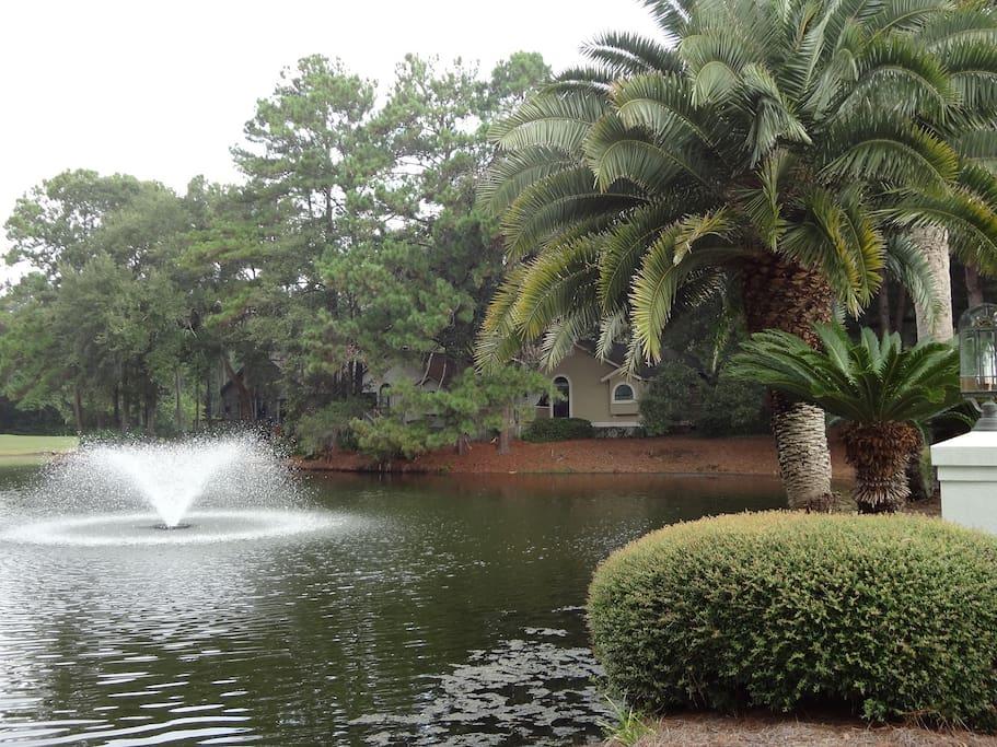 Enjoy private lagoon view...