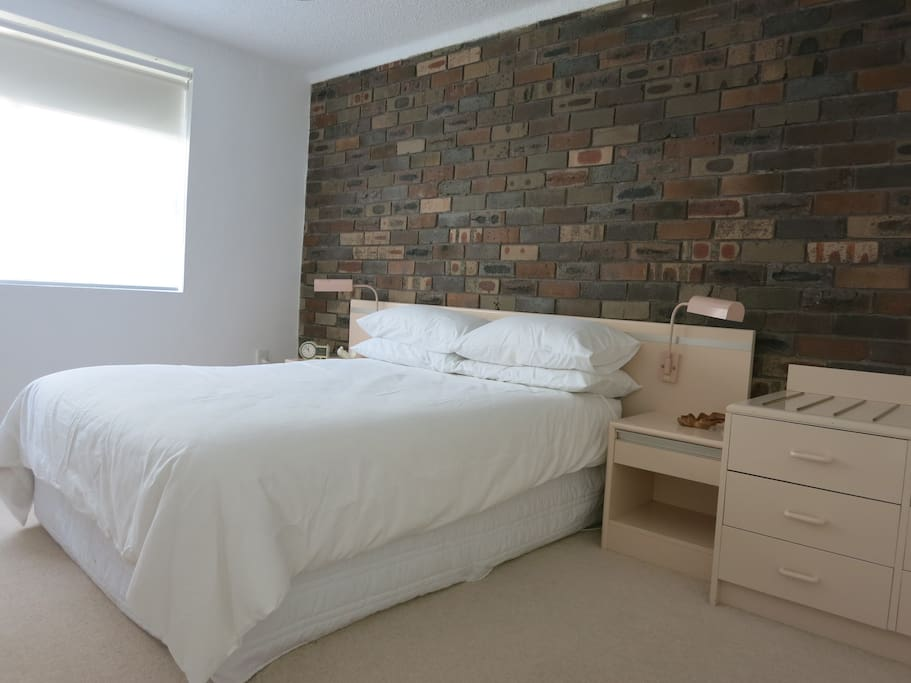 Main bedroom with a double bed.