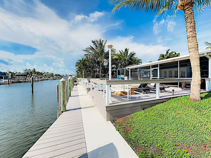 Canal-Front Oasis with Pool & Boat Dock