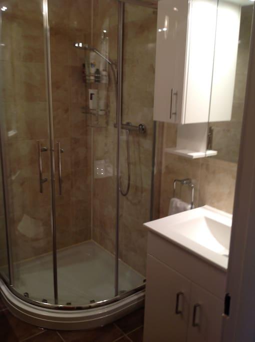 Showering facilities