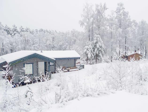 Swedish stuga  (cottage) in Fladalt - Laholm - Cabana