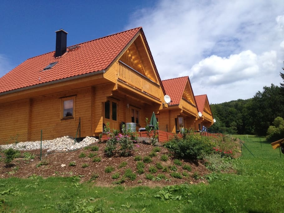 comfy and cozy log cabin garden cabins for rent in bad sachsa lower saxony germany. Black Bedroom Furniture Sets. Home Design Ideas