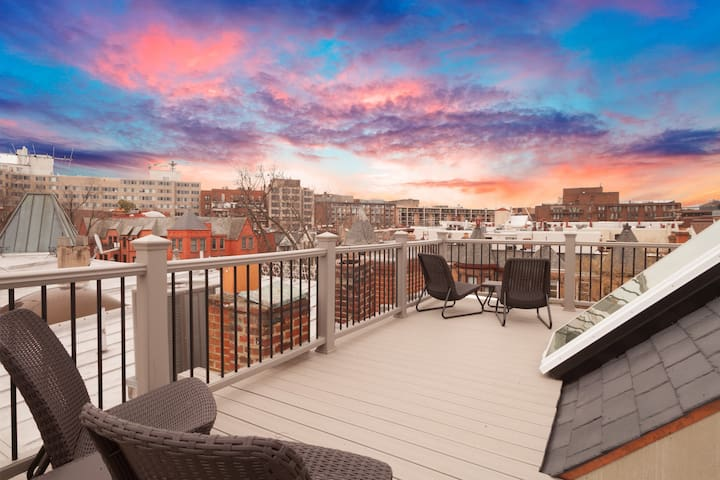 Rooftop deck | Central Location in Dupont Circle | Walk Everywhere
