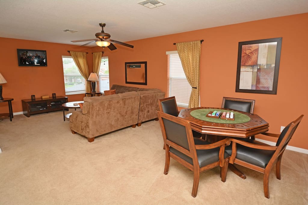 Upstairs TV and card room