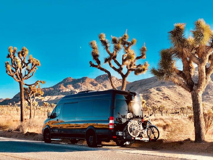 Sprinter Van Camper Van in wine country.