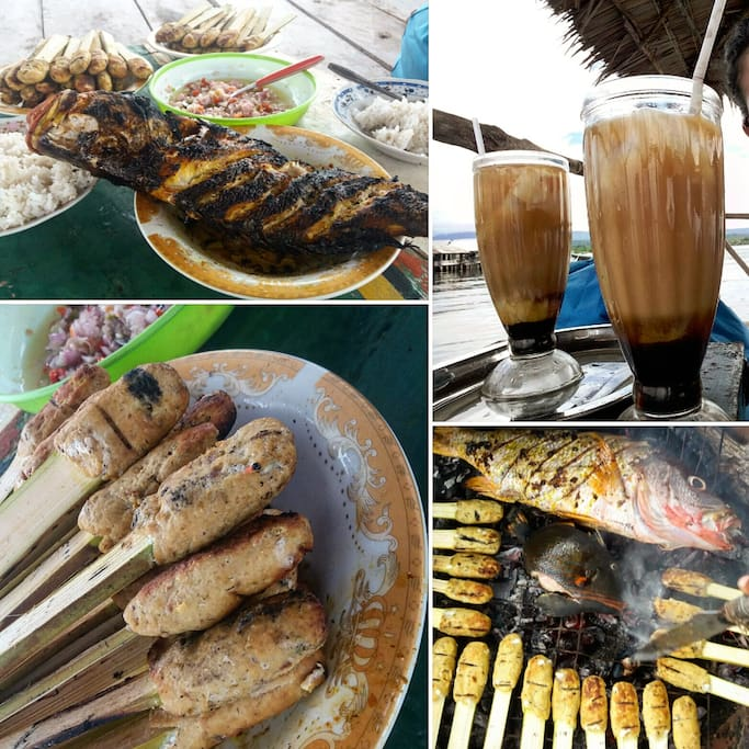 Try our dishes ! Local indonesian cook, fresh fish and sea food !