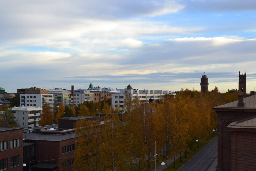City Center nearby, Beautiful view in autumn.