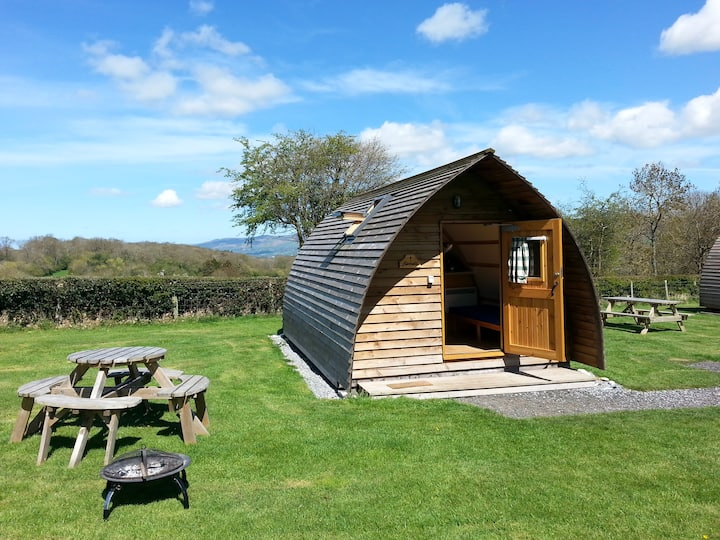 Quirky Glamping Pods with stunning rural views 1