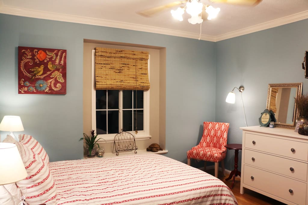 After a long day of travel or touring the city come back and relax in your cozy room!