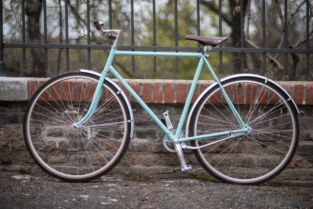 Gentleman´s city bike is fully renovated Favorit bike from 1980´s. Leather seat and handles.