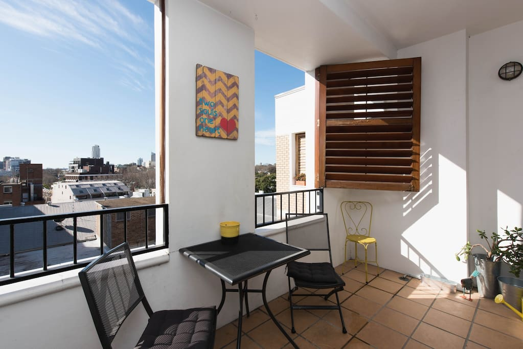 Spacious & Tranquil Balcony with District Views