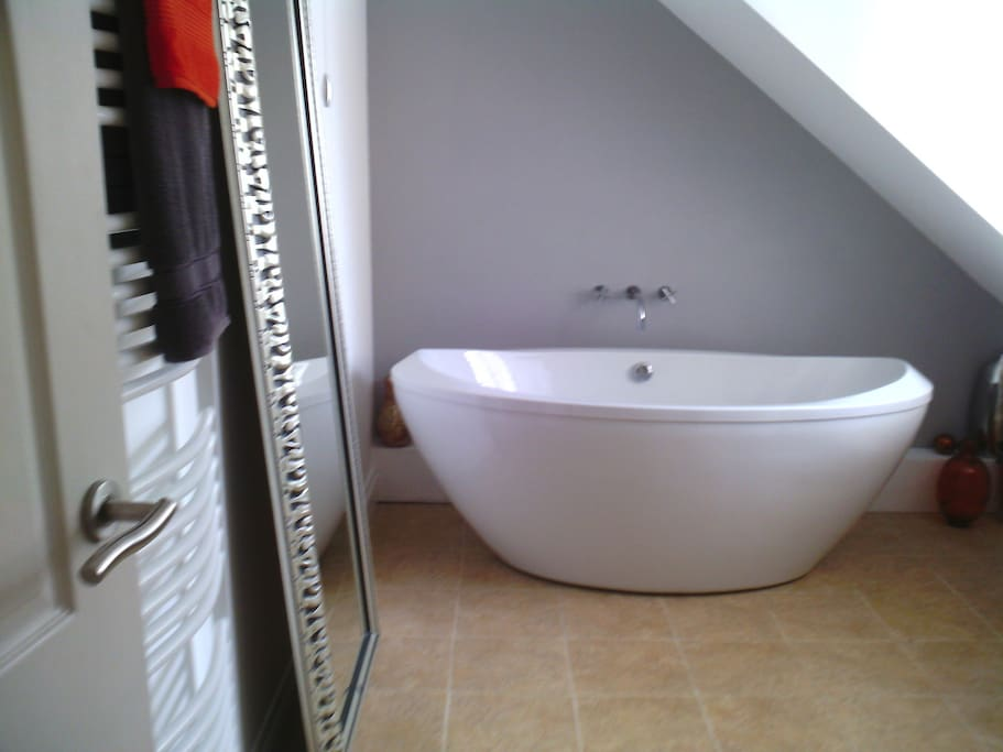 Spacious bathroom , with seperate shower cubile