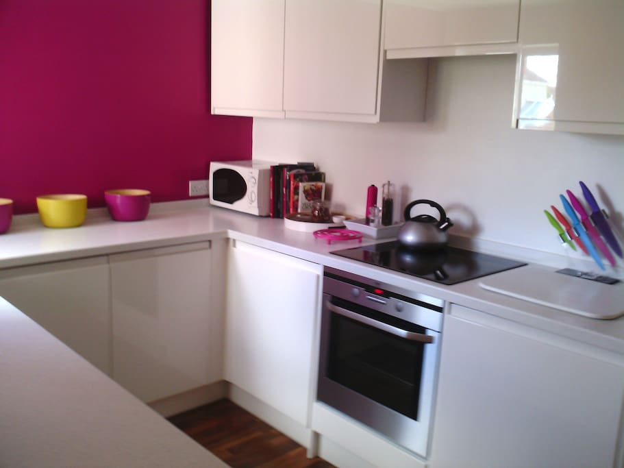 Well equipped kitchen, with intergrated appliances
