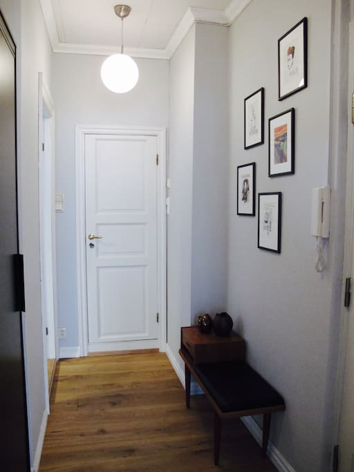 The entryway with wardrobe.