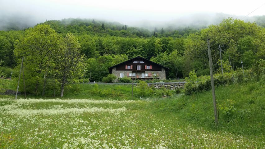 Landmark in beautiful surrounding. Ski in ski out! - Vouvry - Casa