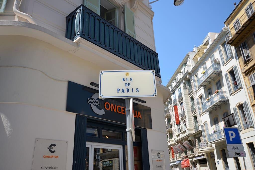 Rue de Paris, un quartier à la fois calme et très central