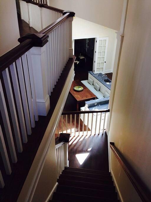 Kitchen from second floor walkway