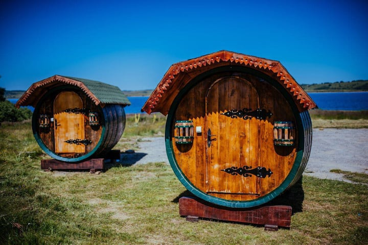 Barrels on the Vlasina lake