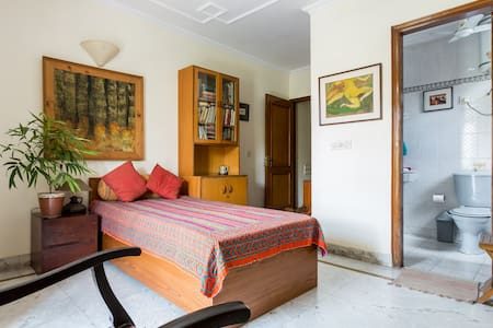 Sunny Room with Green View B2 - Neu-Delhi - Wohnung