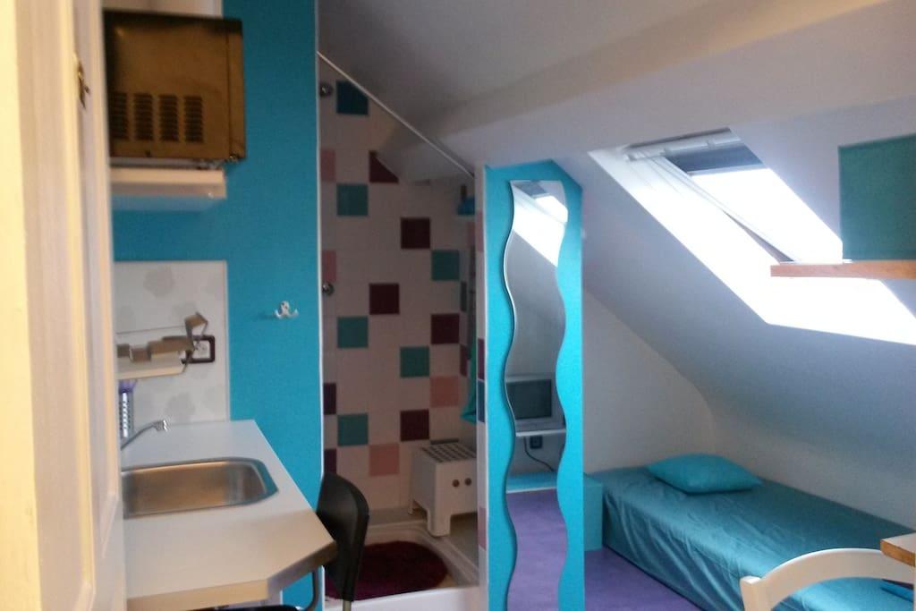 100m de la gare petite chambre mansard e priv e maisons for Louer une chambre sans fenetre